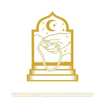 Islamska ilustracja koralików modlitewnych
