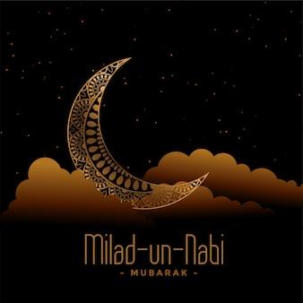 Islamska karta festiwalu eid milad un nabi barawafat