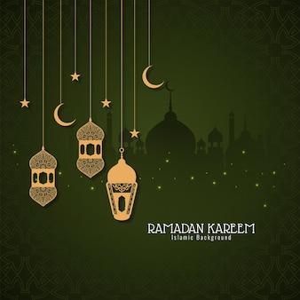Islamska karta festiwalu świętego miesiąca ramadan kareem