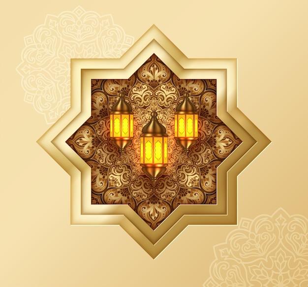 Islamska piękny dekoracyjny wzór tła