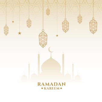 Islamska ramadan kareem eid kartka z życzeniami