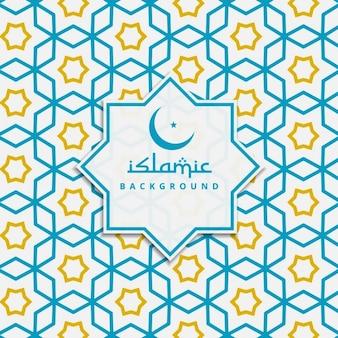 Islamska tle wzór w kolorze niebieskim i żółtym
