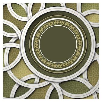 Islamska tło z pięknym kwiatowym wzorem
