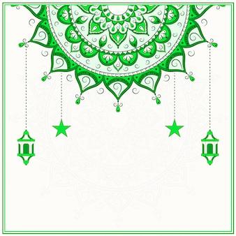 Islamska zielona mandala