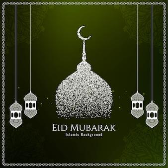 Islamski festiwal eid mubarak elegancki