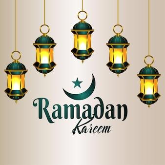 Islamski festiwal ramadan kareem celebracja tło