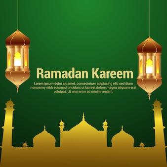 Islamski festiwal ramadan kareem kartkę z życzeniami uroczystości