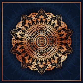 Islamski luksusowy mandali tło