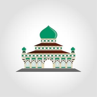 Islamski meczet koncepcja wektor