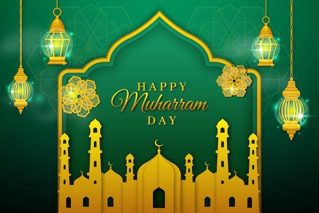 Islamski nowy rok w stylu papierowym
