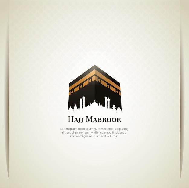 Islamski pielgrzymka projekt karty pielgrzymki z świętej kaaby