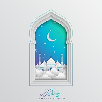 Islamski ramadan kareem muzułmański festiwal tło