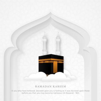 Islamski ramadan kareem tło
