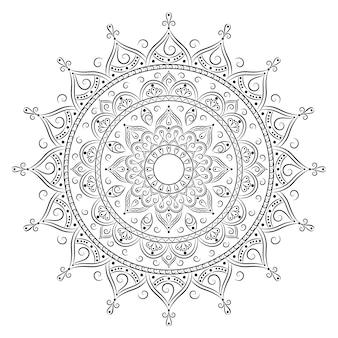 Islamski szkic mandali do kolorowania