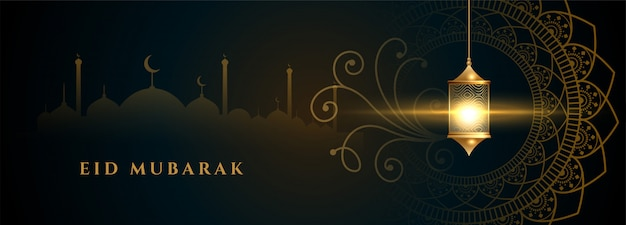 Islamski sztandar lampy dla projektu festiwalu eid