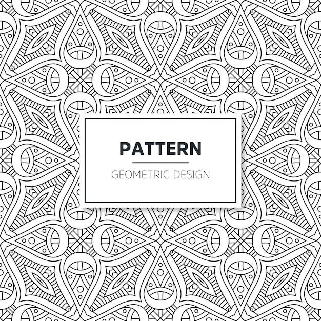 Islamski wzór mandali. elementy w stylu vintage