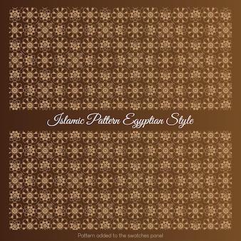 Islamski wzór stylu egipskiego. arabski wzór w kolorze złotym.