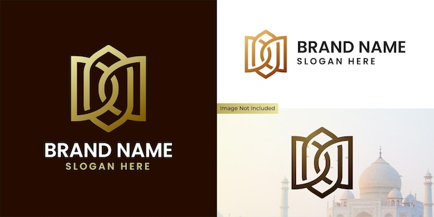 Islamskie logo z luksusowym i ekskluzywnym stylem