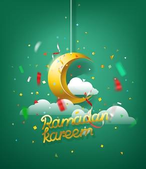 Islamskie święto ramadan kareem. ilustracji wektorowych