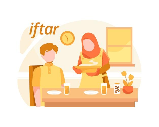 Islamskie tło iftar