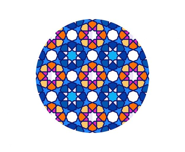 Islamskie tło. wzór mozaiki.
