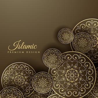 Islamskie tło z dekoracją mandali