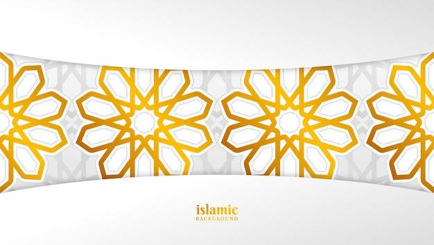 Islamskie tło ze złotymi ornamentami