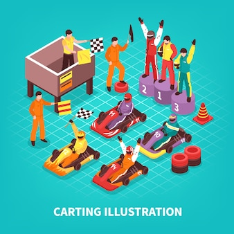 Isometric carting racers