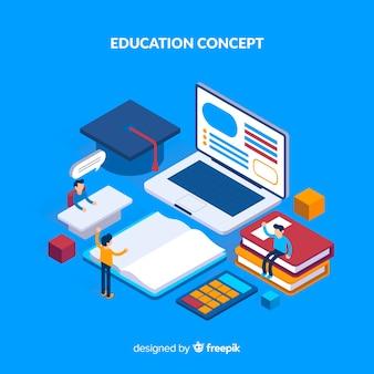 Isometric edukacja koncepcja tło