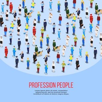 Isometric people professions