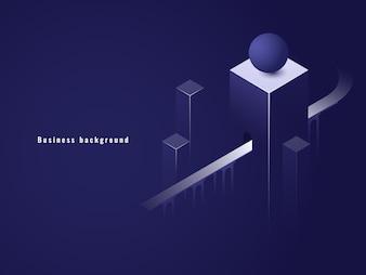 Isometric tunel, biznesowy pojęcie, droga