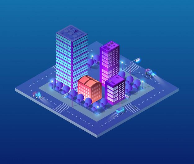 Isometric ultra city concept