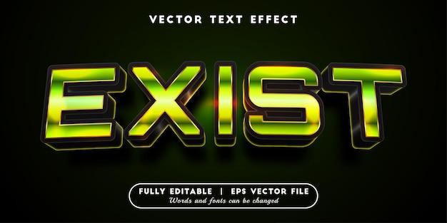 Istniejący efekt tekstowy z edytowalnym stylem tekstu