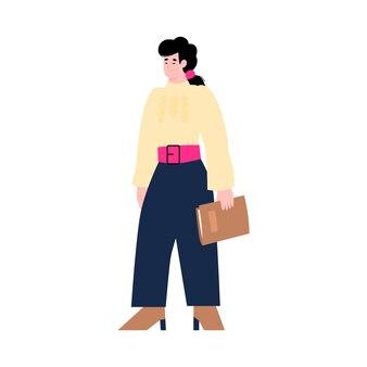 Izolowana młoda kobieta hr manager lub kandydatka do pracy