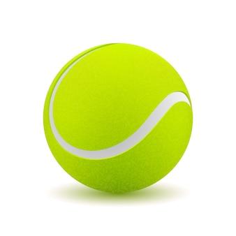 Izolowana piłka tenisowa