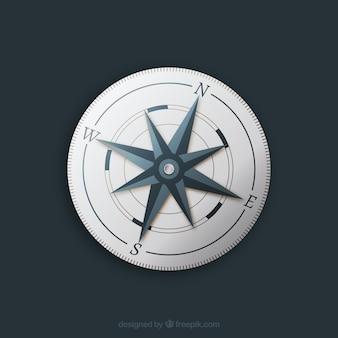Izolowane płaskie kompas