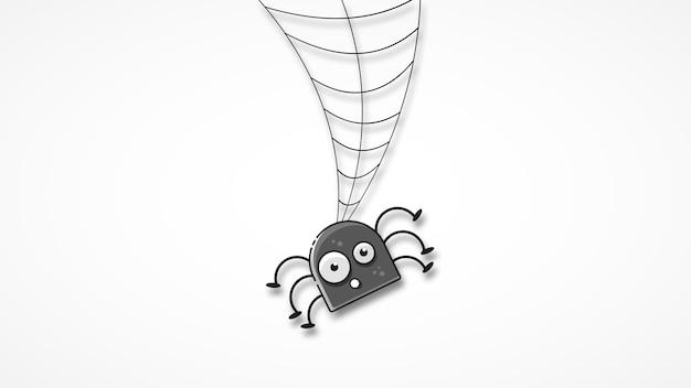 Izolowane spooky spider web w zabawny sposób