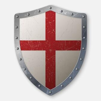 Izolowane tarcza krzyżowców realistyczne wieku
