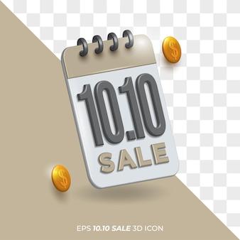Izolowane tło przezroczysta ikona szablonu 10.10