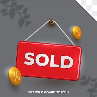 Izolowane tło przezroczystej ikony szablonu sprzedawanej tablicy