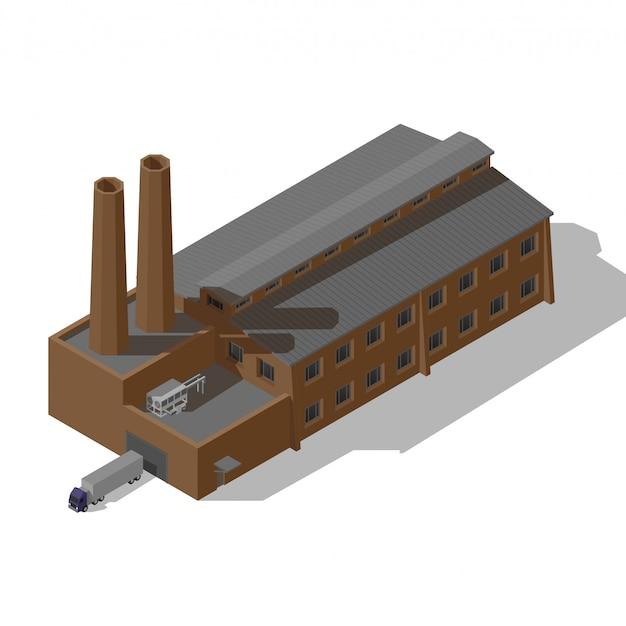 Izometryczna fabryka przemysłowa