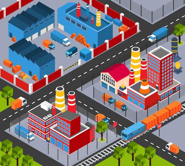 Izometryczna infrastruktura fabryki