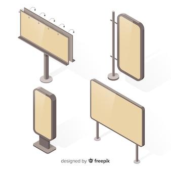 Izometryczna kolekcja billboardów