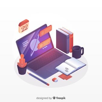 Izometryczna koncepcja edukacji online