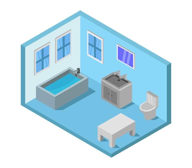 Izometryczna łazienka
