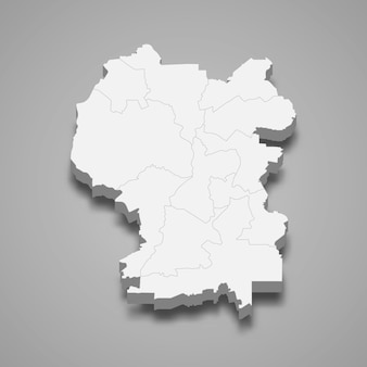 Izometryczna mapa kuala lumpur to stan malezji