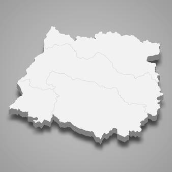 Izometryczna mapa maule to region chile