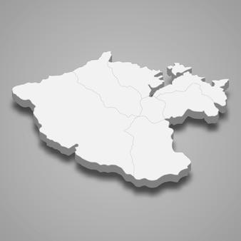 Izometryczna mapa miasta keelung to region tajwanu