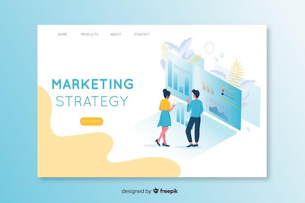 Izometryczna marketingowa strona docelowa