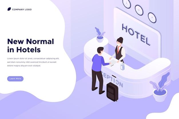 Izometryczna nowa norma w hotelach
